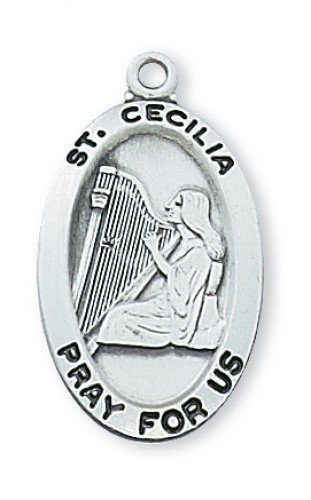 St. Cecilia Medal in Sterling Silver