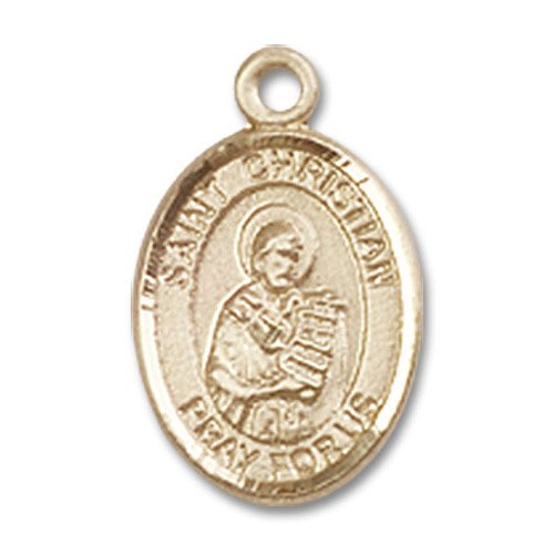 St. Christian Demosthenes Charm - 14 Karat Gold Filled (#85131)