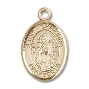 St. Christina the Astonishing Charm - 14 Karat Gold Filled (#85289)