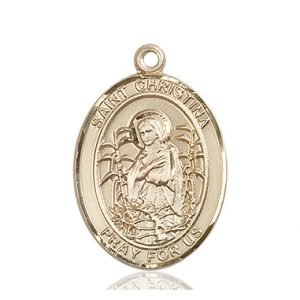 St. Christina the Astonishing Medal - 82731 Saint Medal