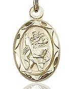Saint Christopher Patron of Travelers Charm