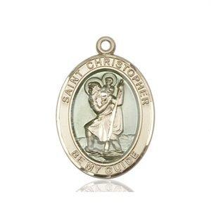 St. Christopher Medal - 14 KT Gold - Medium