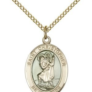 St. Christopher Medal - 14 Karat Gold Filled - Medium