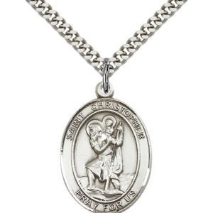 St Christopher Necklace and Medals