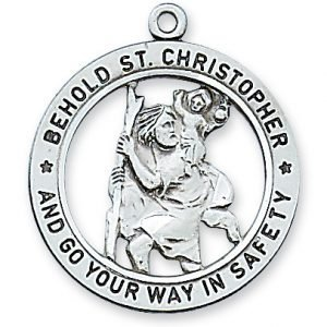 Open back St. Christopher St Medal