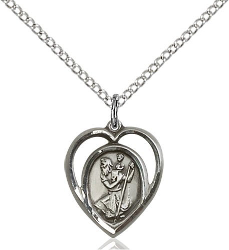 Sterling Silver St Ambrose Pendant 18 Chain