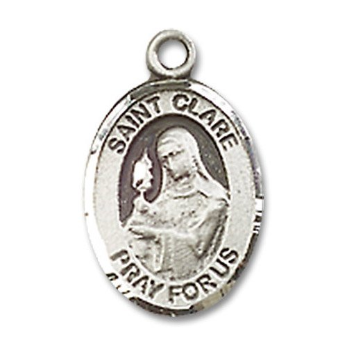 St. Clare of Assisi Charm - Sterling Silver (#M0015)