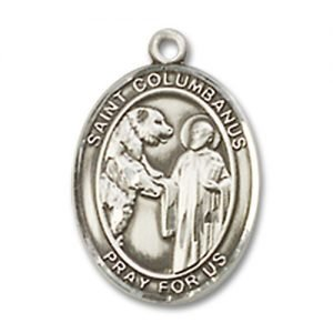 St. Columbanus Charm - Sterling Silver (#85294)