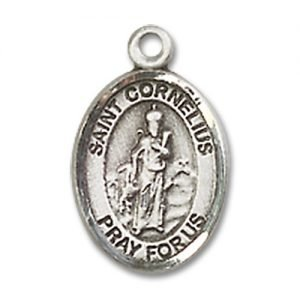 St. Cornelius Charm - Sterling Silver (#85306)