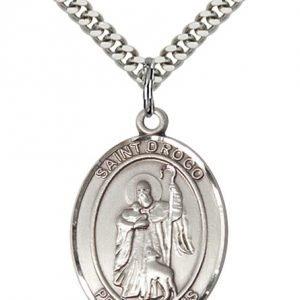 St. Drogo Medal - Sterling Silver - Large