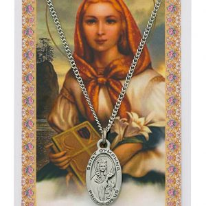 St Dymphna Pendant and Prayer Card Set