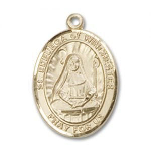 St. Edburga of Winchester Charm - 14 Karat Gold Filled (#85301)