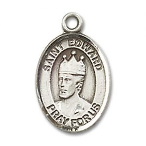 St. Edward the Confessor Charm - Sterling Silver (#84540)