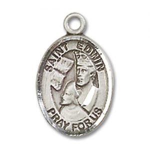 St. Edwin Charm - Sterling Silver (#85399)
