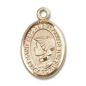 St. Elizabeth Ann Seton Charm - 14 Karat Gold Filled  (#85066)