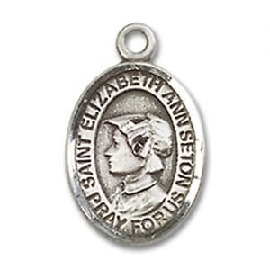 St. Elizabeth Ann Seton Charm - Sterling Silver (#M0013)