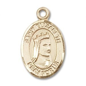 St. Elizabeth of Hungary Charm - 14 Karat Gold Filled (#84559)