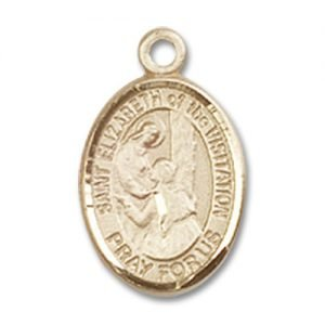 St. Elizabeth of the Visitation Charm - 14 Karat Gold Filled (#85262)