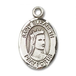 St. Elizabeth of Hungary Charm - Sterling Silver (#M0004)