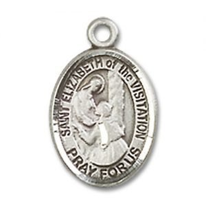 St. Elizabeth of the Visitation Charm - Sterling Silver (#M0027)