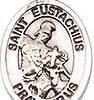Sterling Silver Charm St Eustachius
