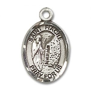 St. Fiacre Charm - Sterling Silver (#85234)