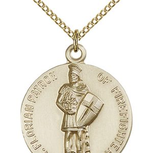 St. Florain Medal - 14 Karat Gold Filled - Large