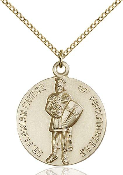 St. Florain Medal - 14 Karat Gold Filled - Large