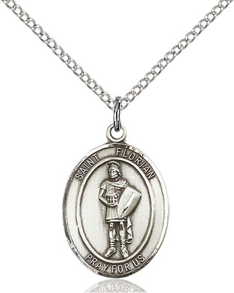 St Florian Necklace: St Florian With Emt Back Medal