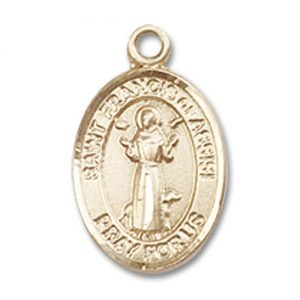 St. Francis of Assisi Charm - 14 Karat Gold Filled (#84568)