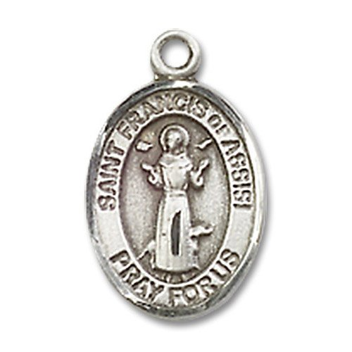 St. Francis of Assisi Charm - Sterling Silver (#19233)