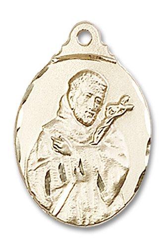 St. Francis Medal - 14 KT Gold - Medium