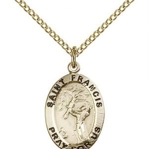 St. Francis of Assisi Medal - 14 Karat Gold Filled - Medium