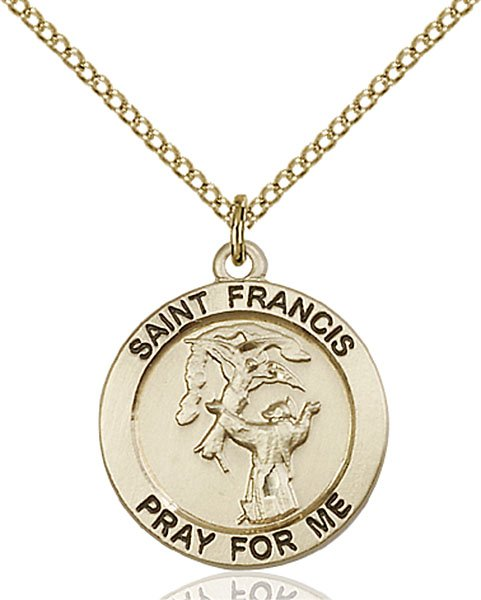 St. Francis Medal - 14 Karat Gold Filled - Medium