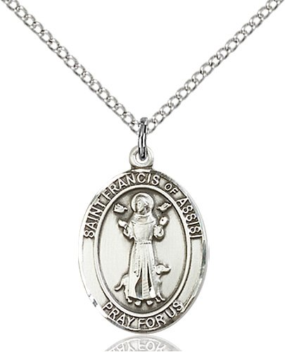 St. Francis of Assisi Medal - Sterling Silver