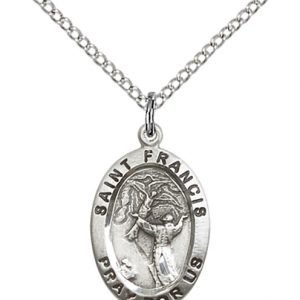 St. Francis of Assisi Medal - Sterling Silver - Medium