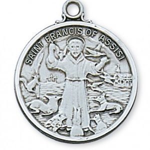 St. Francis Medal in Sterling Silver