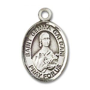 St. Gemma Galgani Charm - Sterling Silver (#84824)
