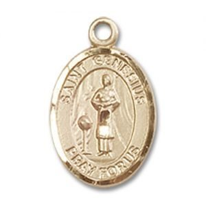 St. Genesius of Rome Charm - 14 Karat Gold Filled (#84574)
