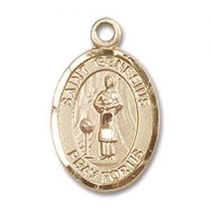 St. Genesius of Rome Charm - 14 Karat Gold Filled (#84574)