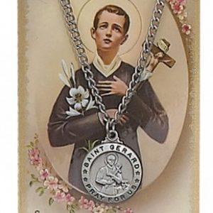 St. Gerard  Pendant and Prayer Card Set