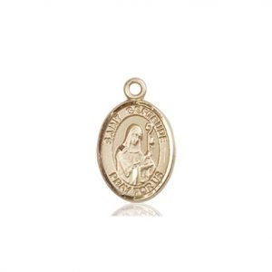 St. Gertrude of Nivelles Charm - 85055 Saint Medal