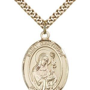 St. Gertrude of Nivelles Medal - 82493 Saint Medal