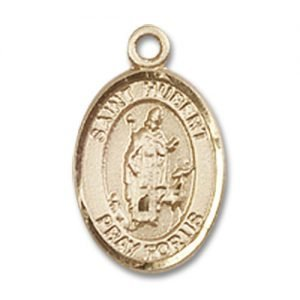 St. Hubert of Liege Charm - 14 Karat Gold Filled (#84592)