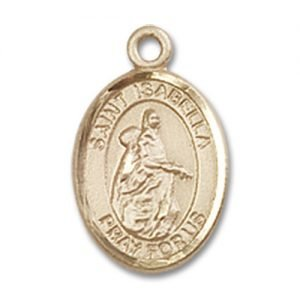 St. Isabella of Portugal Charm - 14 Karat Gold Filled (#85111)