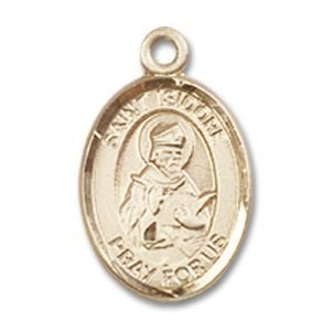 St. Isidore of Seville Charm - 14 Karat Gold Filled (#84604)
