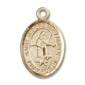 St. Isidore the Farmer Charm - 14 Karat Gold Filled (#85179)