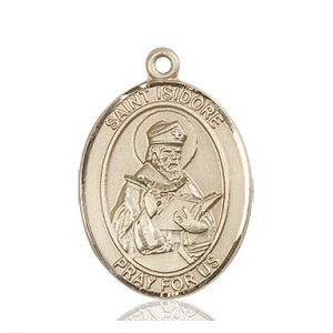 St. Isidore of Seville Medal - 82048 Saint Medal