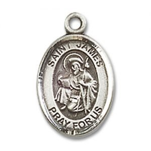 St. James the Greater Charm - Sterling Silver (#M0047)