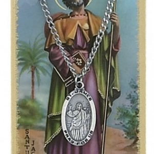 St. James Pendant and Prayer Card Set
